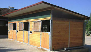 Brand new Swiss modular barns for sale, 3 or 4 stalls per barn