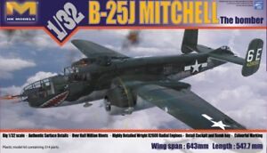 PLASTIC MODEL KITS - 1/32 B-25 MITCHELL BOMBER