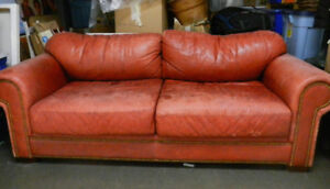 Solid Leather Sofa