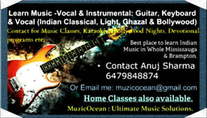Indian Music Classes for all age groups, contact me