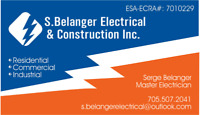 ESA pre-approved electrician for hire