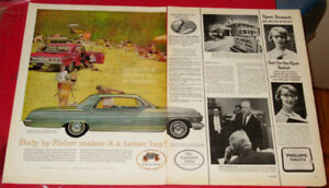1962 CHEVY IMPALA SPORTS SEDAN AND COUPE LARGE VINTAGE AD