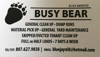 dump runs / rental unit and GENERAL CLEANING