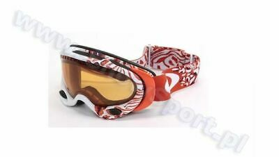 Oakley A frame Huntress Grenadine w/ Persimmons Lens Ski Googles - New