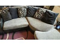 Dfs corner settee with foot rest