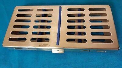 Dental Sterilization Cassette Autoclave Tray Rack Box 7-instruments Blue