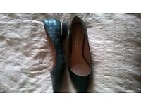 NEXT LADIES SHOES £5 SIZE 6 EMERALD GREEN NEVER WORN
