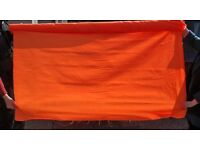 Orange Nylon Hi-Vis Material Fabric On The Roll CLEARANCE ONLY £10 Collect B63 3SW