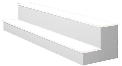 30 2 Tier Led Lighted Liquor Display Shelf - White Finish