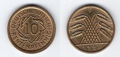 10 Reichspfennig 1923 F   ERHALTUNG !