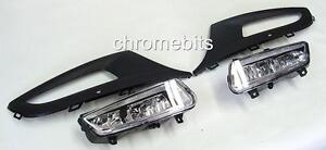 VW POLO MK8 2010+ 60 61 2011 FOG LIGHTS LIGHT LAMPS & GRILLES KIT NEW BOXED
