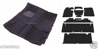 67-69 CAMARO FIREBIRD BLACK LOOP MOLDED 2PC CARPET RUG W/ SOUND DEADENER KIT ()