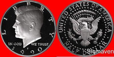 1990 S Kennedy Half Dollar Deep Cameo Gem Proof No Reserve
