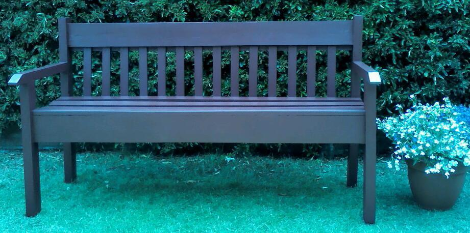 Garden Benchin Lowestoft, SuffolkGumtree - Approx. One year old sturdy three seater garden bench, treated with wood preserver and three coats of cuprinol garden shades. I can deliver locally
