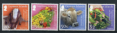 Cayman Islands 2016 MNH Agriculture 50th Anniv 4v Set Goats Cows Fruits Stamps