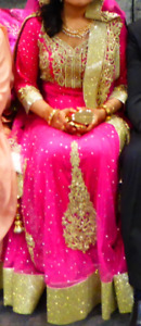 BRAND NEW pink and gold South Asian dress, suitable for weddings