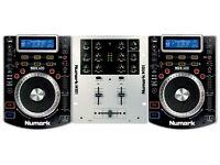 Numark NDX 400 Deck Bundle // Excellent Condition // 2x Decks + M101 Mixer