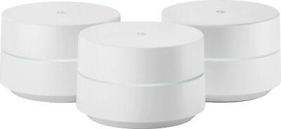 Google - Google Wifi AC1200 Dual-Band Mesh Wi-Fi System (3-Pack) - White