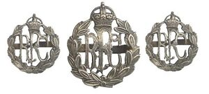 WW1-THE-ROYAL-FLYING-CORPS-CAP-BADGE-COLLARS-OSD-OFFICERS-SILVER