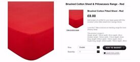 2 George Red single bed sheets (Never used) like new condition - £3 each ONO