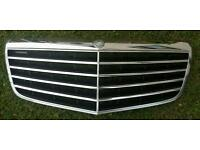 W211 front grill in chrome