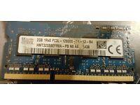 SK Hynix 2GB 1RX8 PC3L DDR3 12800S 1600Mhz Laptop Memory RAM HMT325S6EFR8A