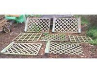 7x Wooden Trellis fence panels
