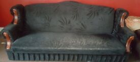3 Seater Valvet Sofa Bed only £5