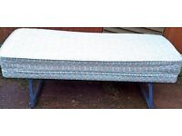 PULL OUT SPARE SINGLE BED & MATTRESS - EXCELLENT CONDITION - £45 ONO
