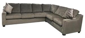 High End Sectionals | Brown Fabric Huge Sectional (AC1102)