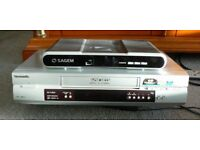 Panasonic VHS Recorder and Sagem Digital TV Receiver/Recorder with hard disk and double tuner