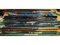 Job Lot of Fishing Gear, Rods, Poles, Waders, Trolley, Takle