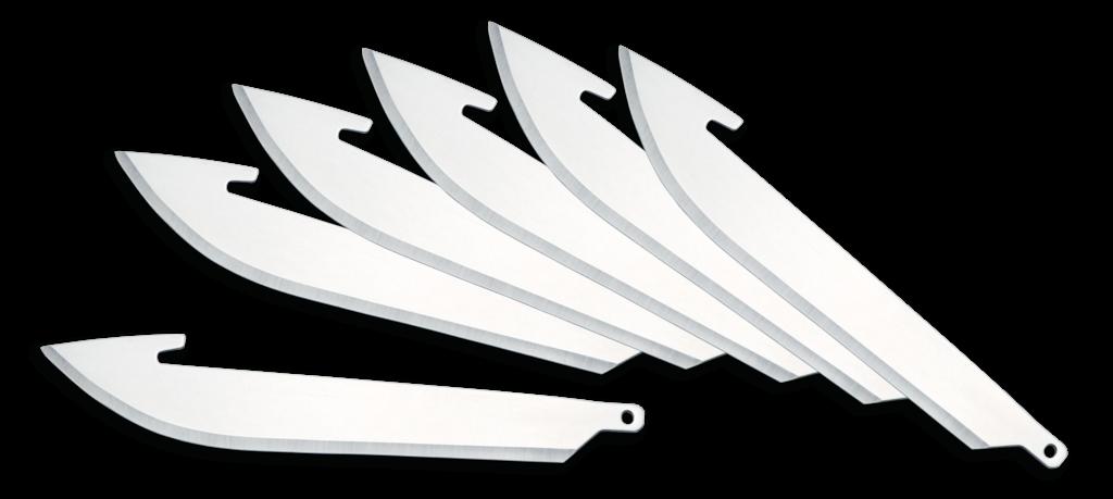 Outdoor Edge 3.0 Inch Razor Series Replacement Blades -- 6 B