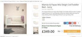 Mama & Papas Mia Sleigh Cot/Toddler bed
