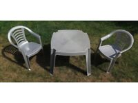 Children's Table and 2 Chairs suitable for the garden