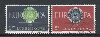 LUXEMBOURG USED 1960 SG683-684 EUROPA