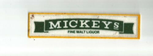 MICKEY'S Malt Liquor employee driver advertising patch (dark) 1X4-5/8 #4421