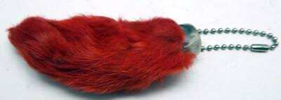 Red Colored Lucky RABBITS FOOT Real (Oryctolagus Cuniculus) Key Chain New