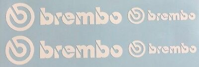 4 Brembo Decal Sticker Vinyl Caliper Brake White Black Red Yellow Heat Resistant
