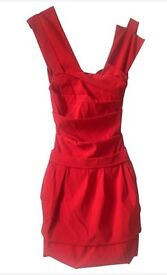 Preen By Thornton Bregazzi Red Power Dress