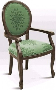 Remarkable antique Oak Wood Framed Accent Chair w\ coiled seat