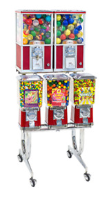 Capsule and Gum Machine Rack by Beaver Brand New
