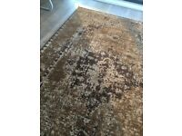Brown Persian Style Medallion Rug, Vintage -Non-Shed Soft Polyproylene - 160x230cm