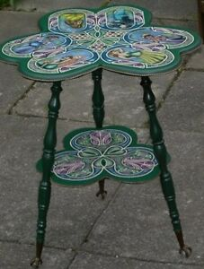 1940's Clover Leaf Table with Art Deco Designs for Sale OR Trade
