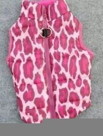Pink Dogs Coat, M