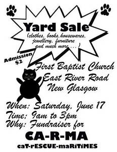 GIANT YARD SALE FUNDRAISER FOR CA-R-MA Cat Resue!!!