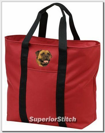 BULLMASTIFF embroidered tote bag ANY COLOR