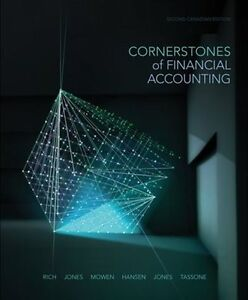 CORNERSTONES OF FINANCIAL ACCOUNTING second canadian ed