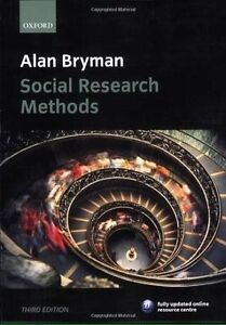 Alan Bryman Social Research Methods Third Edition McGraths Hill Hawkesbury Area Preview