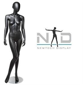 NEW NEWTECH DISPLAY MANNEQUIN EGG FEMALE MANNEQUIN - MATTE BLACK  Retail Store Fixtures Equipment Clothing Forms